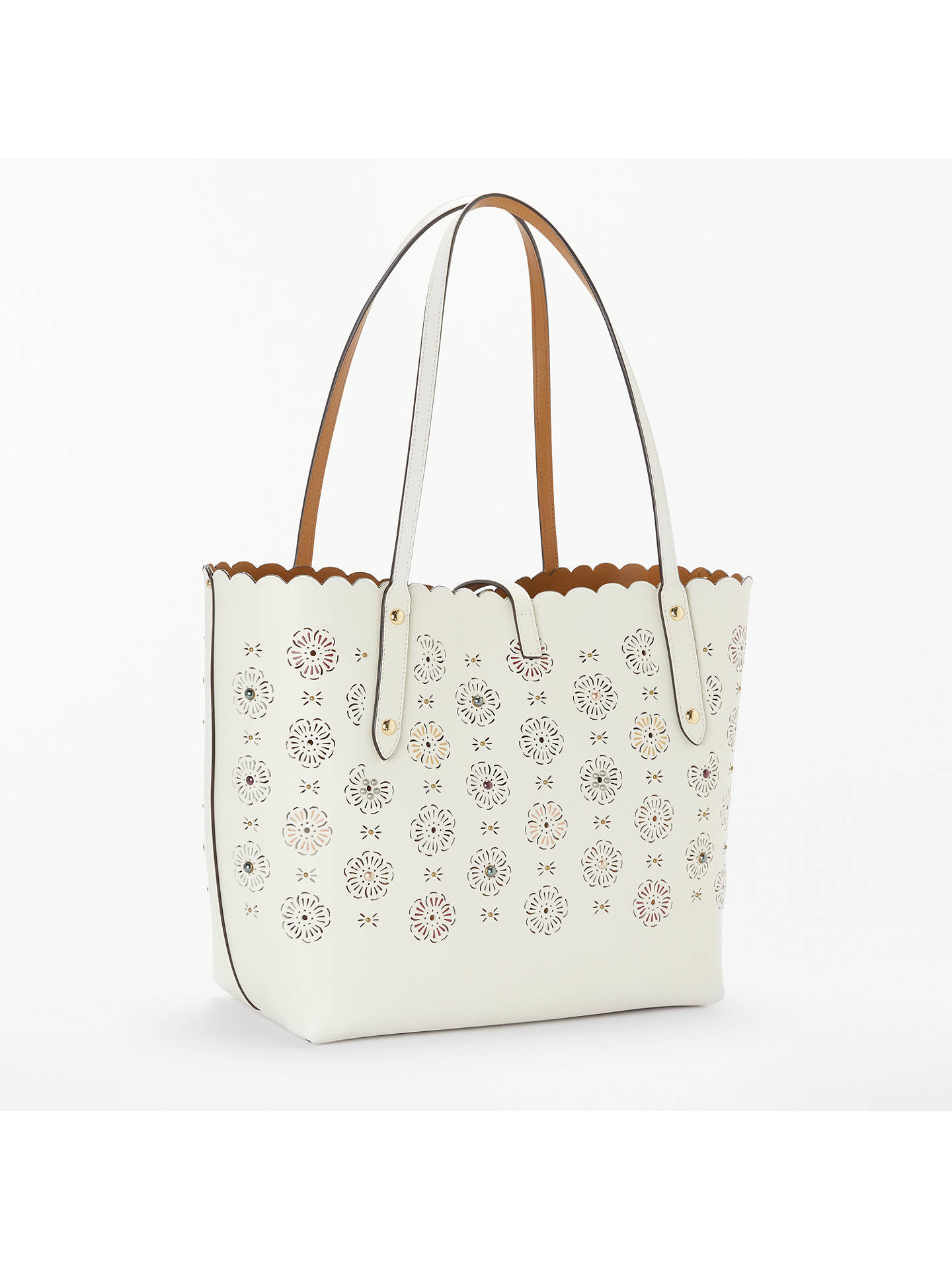 19876e2eca ... Buy Coach Market Floral Cut Leather Tote Bag