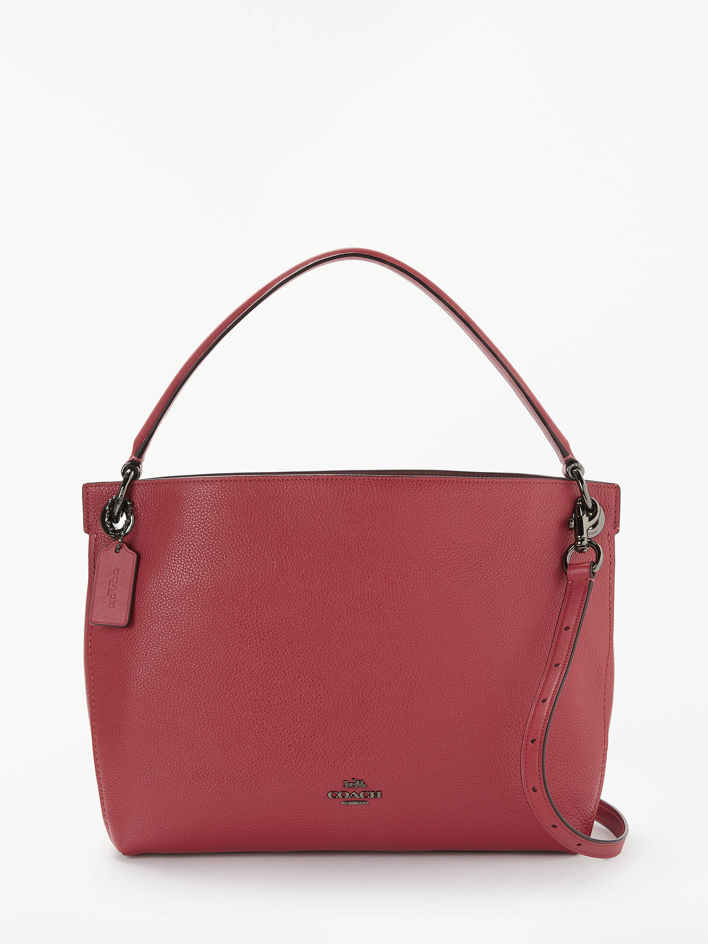 2f5f47eafe07 Coach Clarkson Leather Hobo Bag at John Lewis   Partners