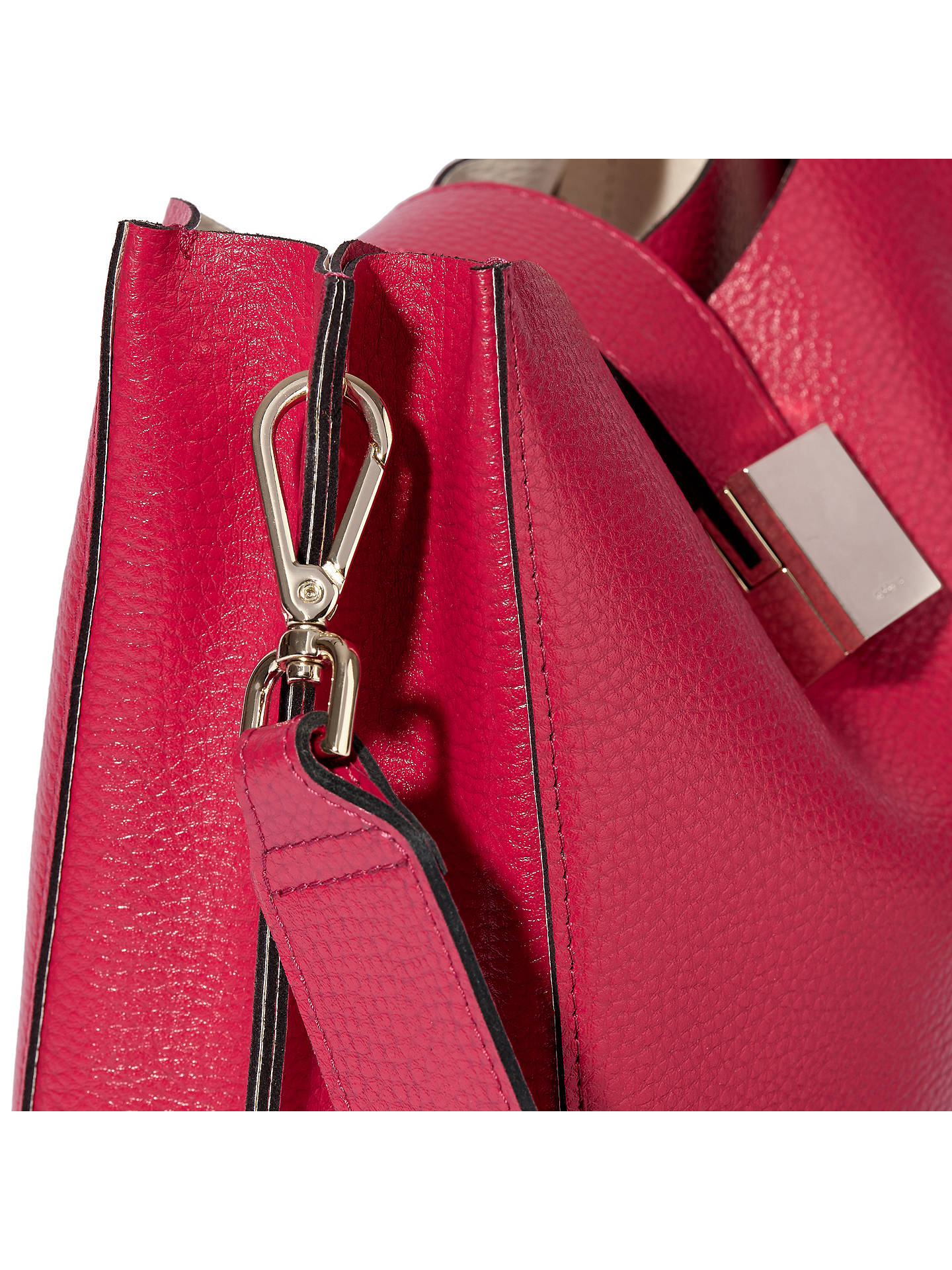 BuyModalu Megan Leather Mini Bucket Bag, Pink Online at johnlewis.com