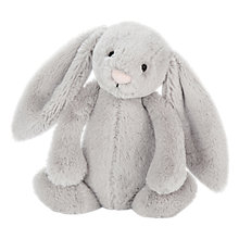 Buy Jellycat Blossom Bunny Chime Soft Toy, Medium, Silver Online at johnlewis.com