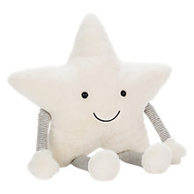 Buy Jellycat Little Star Large, Cream Online at johnlewis.com