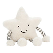 Buy Jellycat Little Star Rattle, One Size, Cream Online at johnlewis.com