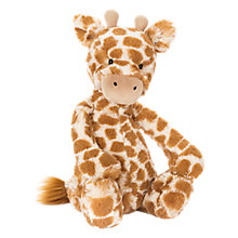 Buy Jellycat Bashful Giraffe Soft Toy, Small, Orange Online at johnlewis.com
