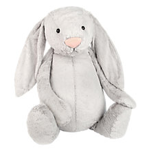 Buy Jellycat Bashful Bunny Soft Toy, Very Big, Silver Online at johnlewis.com