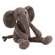 Buy Jellycat Slackajack Elephant Soft Toy, Small, Grey Online at johnlewis.com