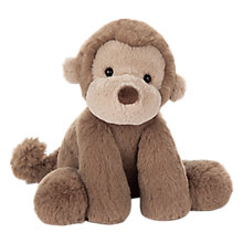 Buy Jellycat Smudge Monkey Soft Toy, One Size, Brown Online at johnlewis.com