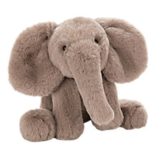 Buy Jellycat Smudge Elephant Soft Toy, One Size, Brown Online at johnlewis.com