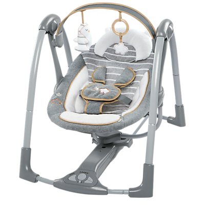 Ingenuity Swing N Go Bella Teddy Portable Swing