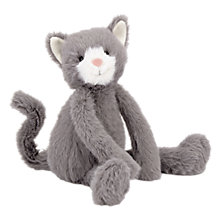 Buy Jellycat Sweetie Kitten Soft Toy, One Size, Grey Online at johnlewis.com