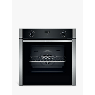 Neff B3ACE4HN0B Slide and Hide Built-In Single Oven, Stainless Steel