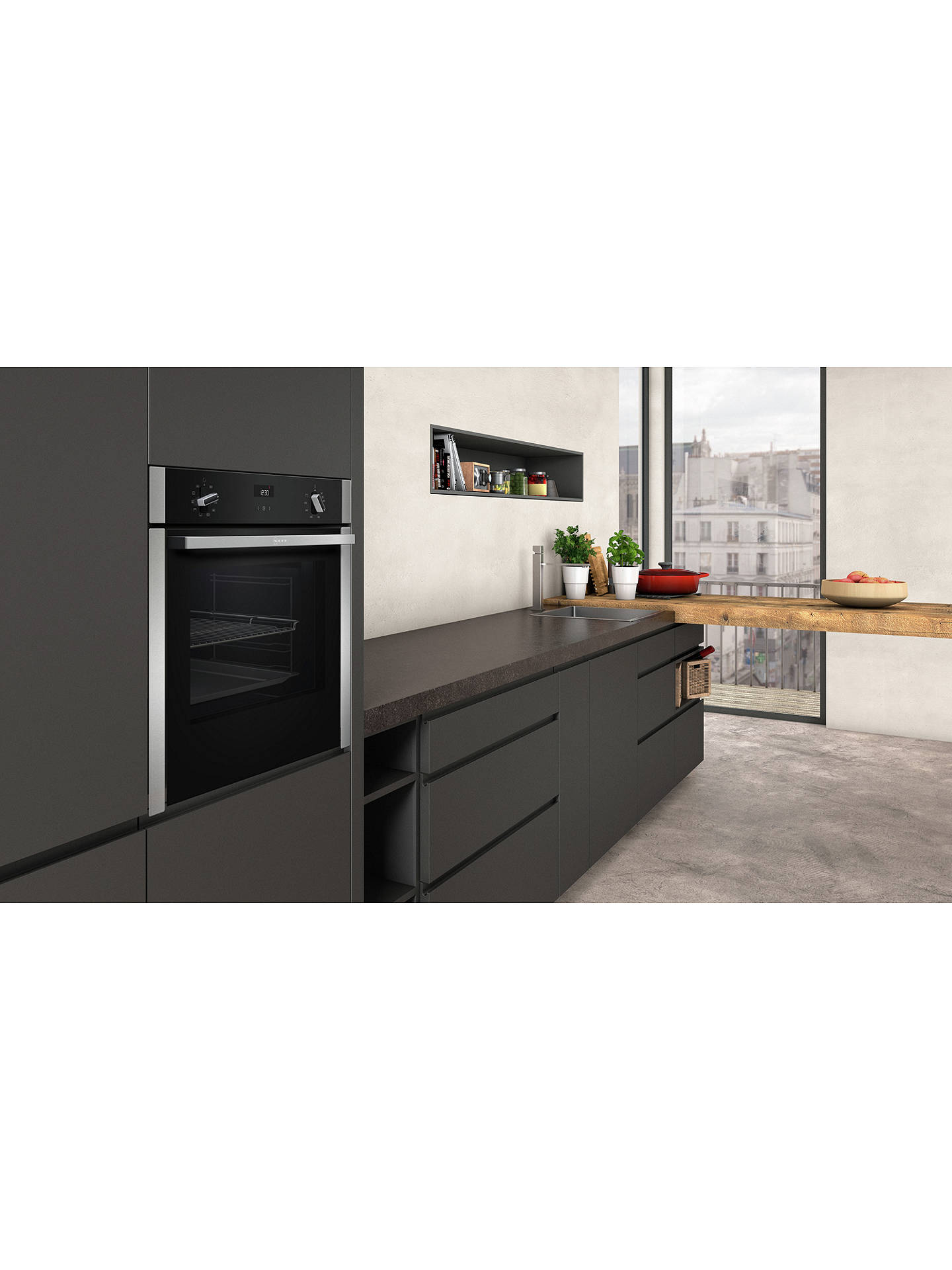 Buy Neff B3ACE4HN0B Slide and Hide Built-In Single Oven, Stainless Steel Online at johnlewis.com