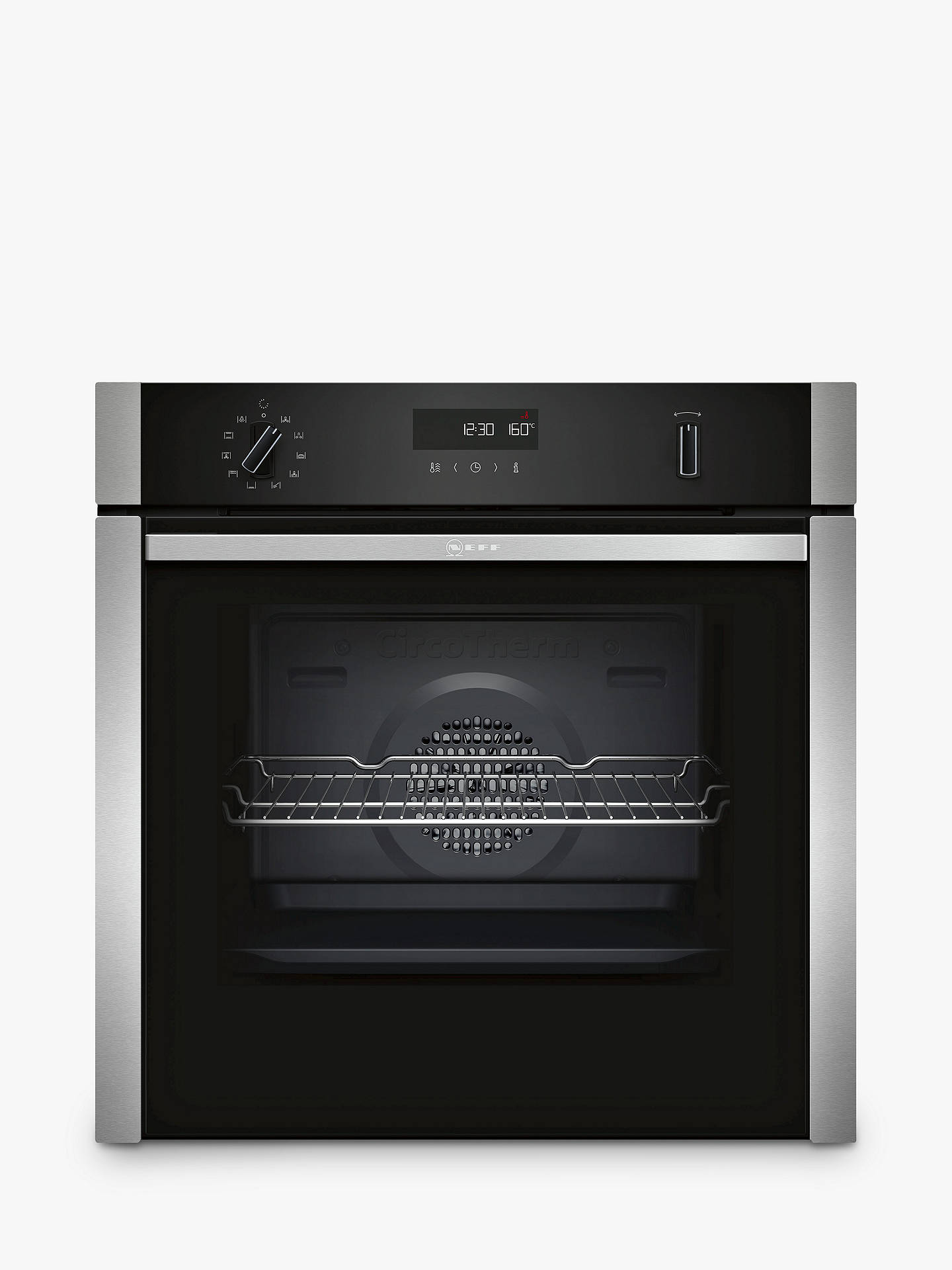 Neff B6ach7hn0b Slide And Hide Pyrolytic Built In Single Oven Stainless Steel