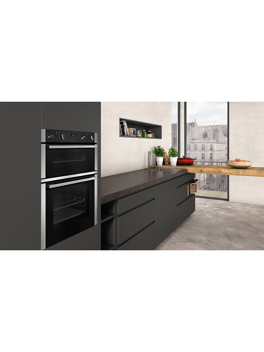 Buy Neff U1ACE2HN0B Built-In Double Oven, Stainless Steel Online at johnlewis.com