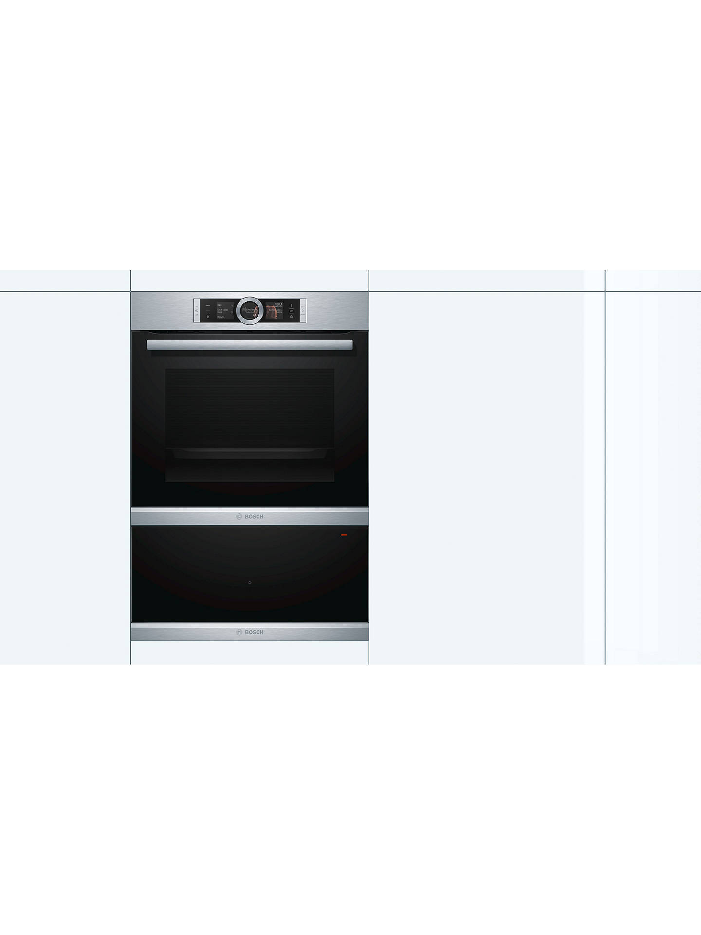 Buy Bosch BID630NS1B Warming Drawer, Brushed Steel Online at johnlewis.com