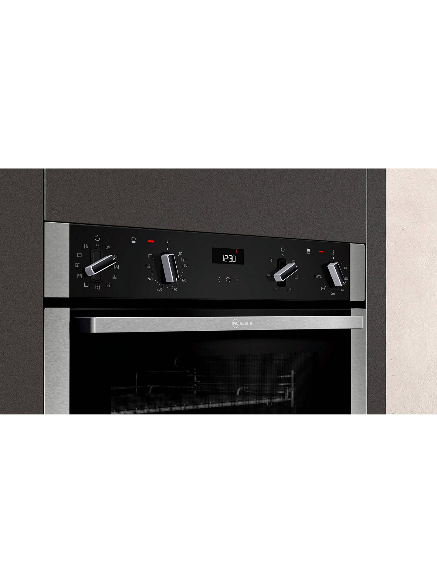 Buy Neff U2ACM7HN0B Pyrolytic Built-In Double Oven, Stainless Steel Online at johnlewis.com
