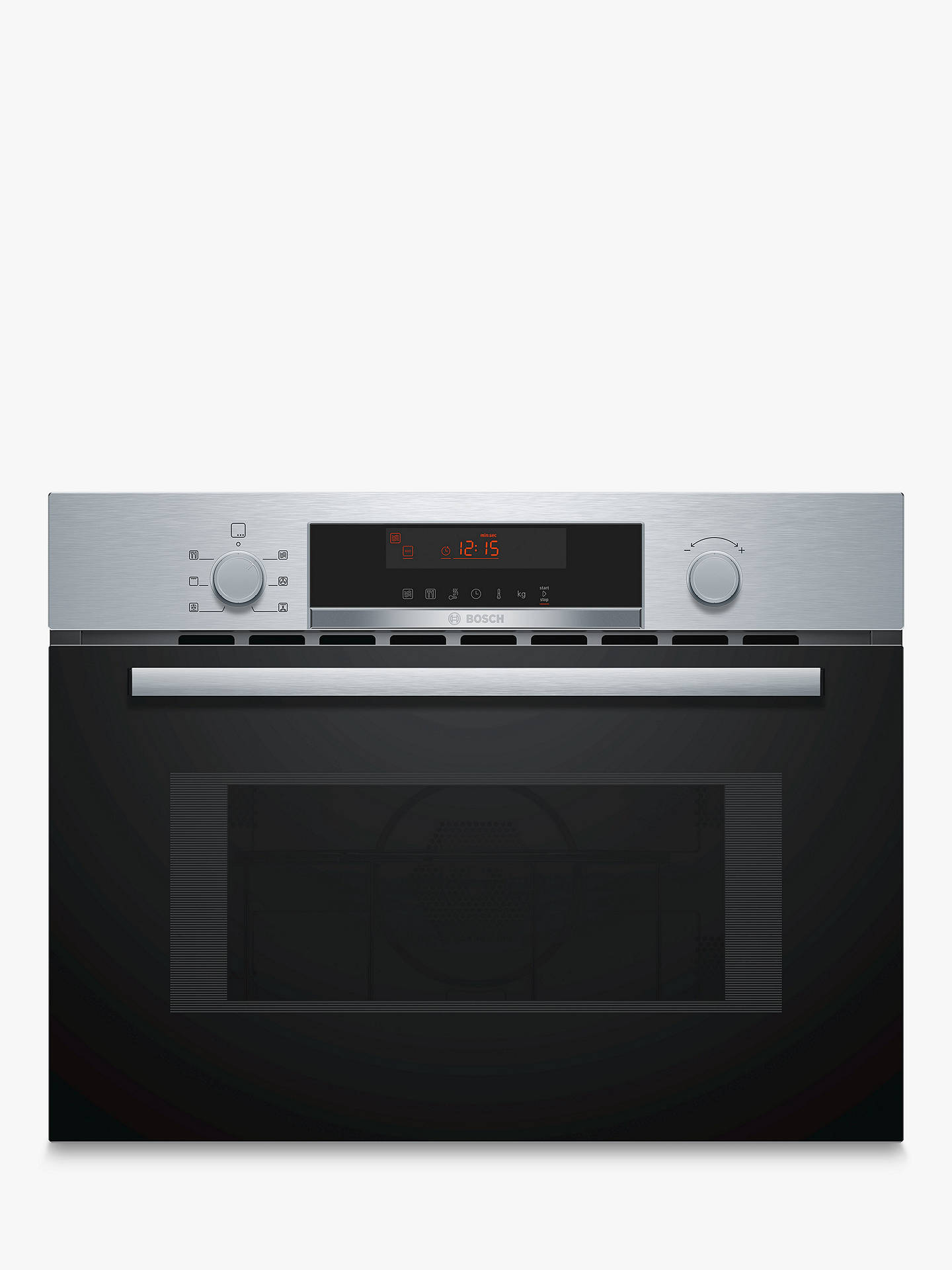 Bosch Cma583ms0b Built In Microwave With Grill Stainless Steel Online At Johnlewis