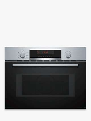 Bosch Serie 4 CMA583MS0B Built-In Combination Microwave with Grill, Stainless Steel