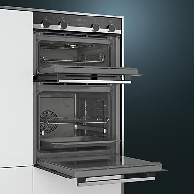 siemens mb535a0s0b built-in double oven, black