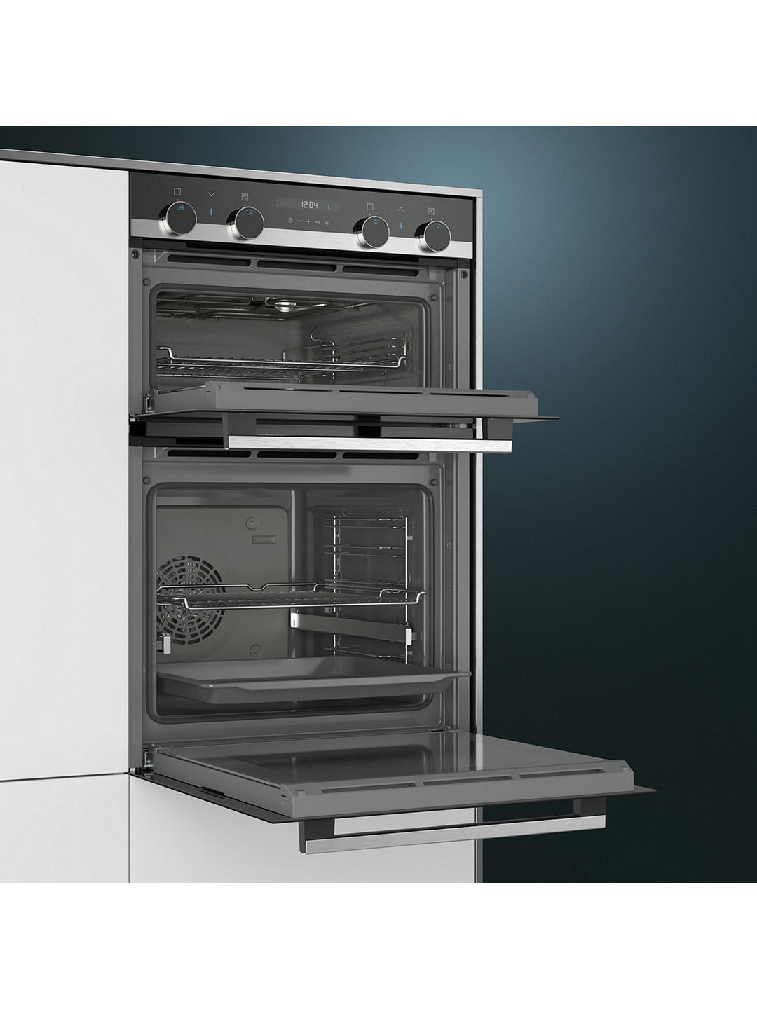 Buy Siemens MB535A0S0B Built-In Double Oven, Black Online at johnlewis.com