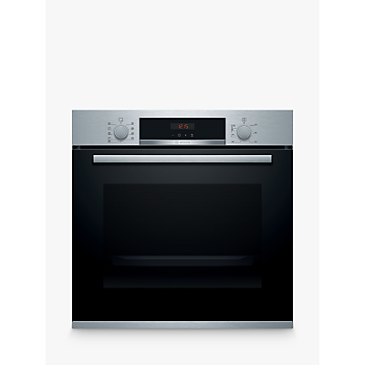 Image of Bosch Built In Single Oven in Brushed Steel HBS573BS0B