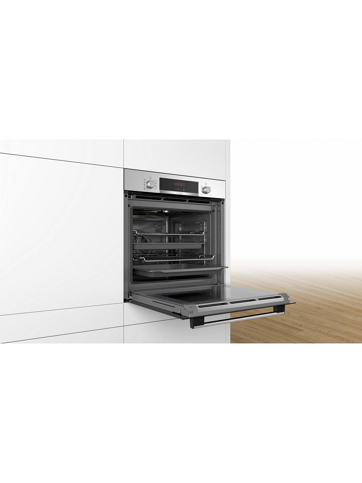 BuyBosch HBS573BS0B Built-In Single Oven, Stainless Steel Online at johnlewis.com