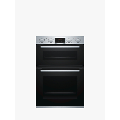 Image of Bosch Built In Multifunction Double Oven in Brushed Steel MBS533BS0B