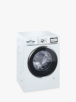 Siemens iQ700 WM14YH89GB Freestanding Washing Machine, 9kg Load, A+++ Energy Rating, 1400rpm Spin, White