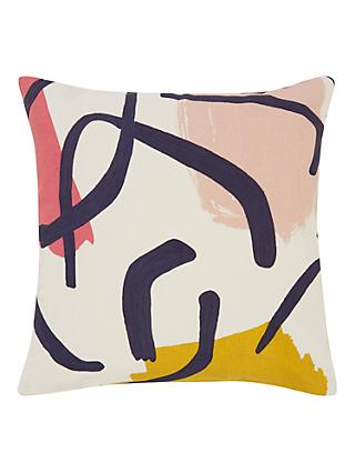 House by John Lewis Dance Party Cushion, Plaster