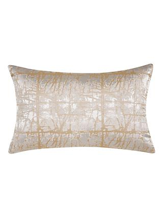 John Lewis & Partners Kyla Cushion, Gold / Silver