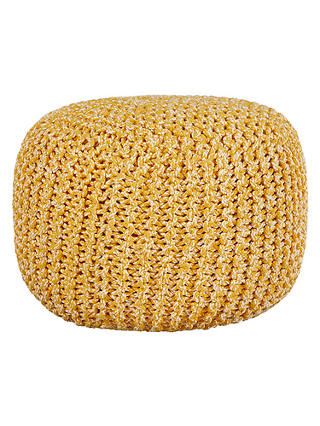Buy House by John Lewis Chunky Knit Pouffe, Yellow Online at johnlewis.com