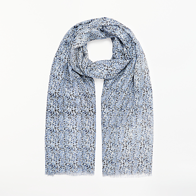 Collection WEEKEND by John Lewis Ditsy Scarf, Blue Mix