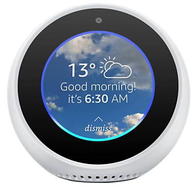 Amazon Echo Spot Smart Speaker with 2.5 Screen & Alexa Voice Recognition & Control