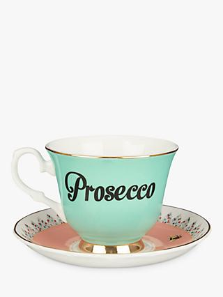 Yvonne Ellen Prosecco Tea Cup and Saucer, 280ml, Multi