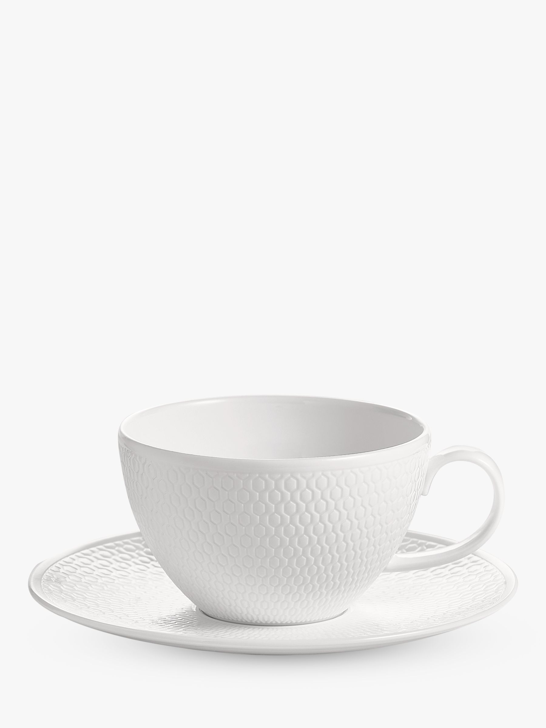 Wedgwood Wedgwood Gio Tea Cup and Saucer, White, 260ml