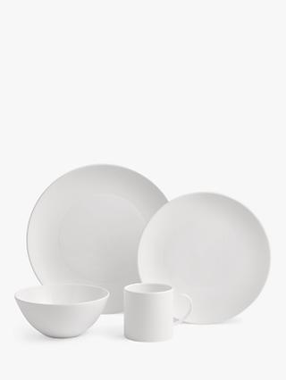 Wedgwood Gio Dinnerware Set, White, 16 Pieces