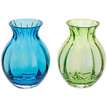 Buy Dartington Crystal Mini Gems Oval Vase, Blue/Green, Pack of 2 Online at johnlewis.com