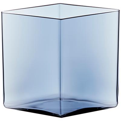 Iittala Ruutu Vase, Rain Drop, 20.5 x 18cm