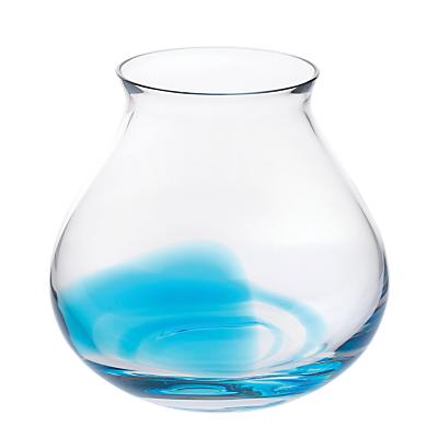 Dartington Crystal Trail Aqua Vase, Wide