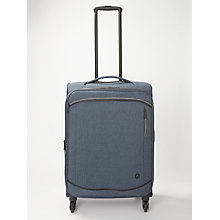 Buy Qubed Area Soft 65cm 4-Wheel Medium Suitcase, Navy Online at johnlewis.com
