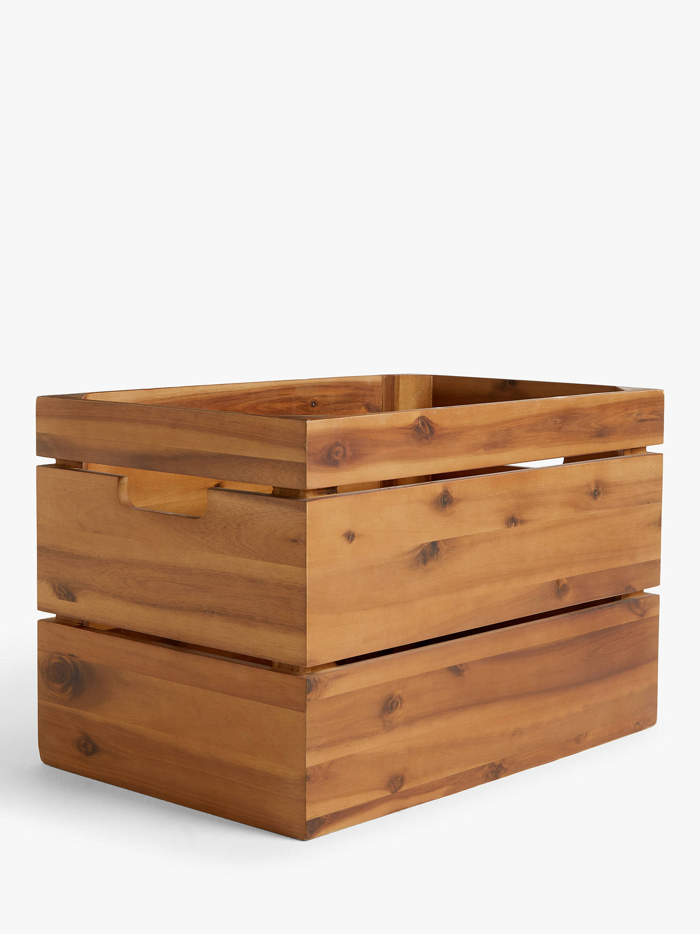 Buy John Lewis & Partners Country Storage Crate, Brown Online at johnlewis.com