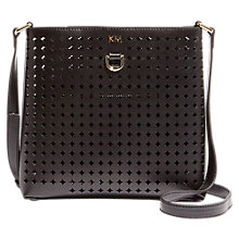 Buy Karen Millen Perforated Cross Body Bag, Black Online at johnlewis.com