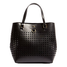 Buy Karen Millen Perforated Mini Bucket Bag, Black Online at johnlewis.com