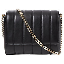 Buy French Connection Rudy Quilted Cross Body Bag, Black Online at johnlewis.com