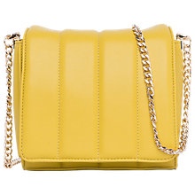 Buy French Connection Riley Mini Cross Body Bag, Dark Citron/Shiny Gold Online at johnlewis.com