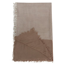 Buy French Connection Inez Scarf, Mink/Summer White Online at johnlewis.com
