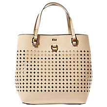 Buy Karen Millen Perforated Medium Tote Bag, Nude Online at johnlewis.com
