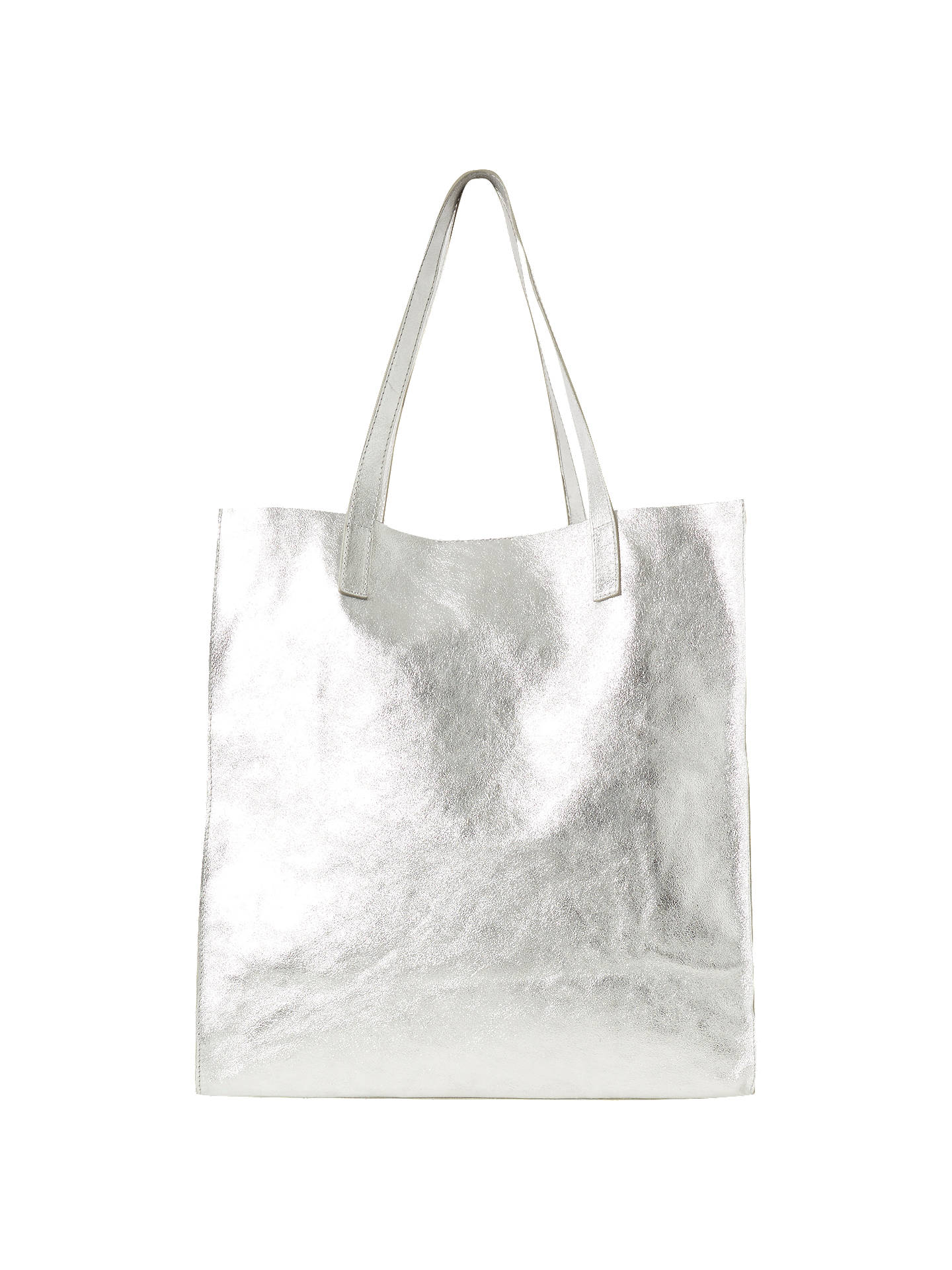 French Connection Miram Tote Bag Silver Online At Johnlewis