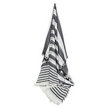 Buy French Connection Arlea Stripe Scarf, Summer White/Graphite Online at johnlewis.com