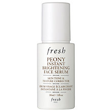 Buy Fresh Peony Instant Brightening Face Serum, 30ml Online at johnlewis.com