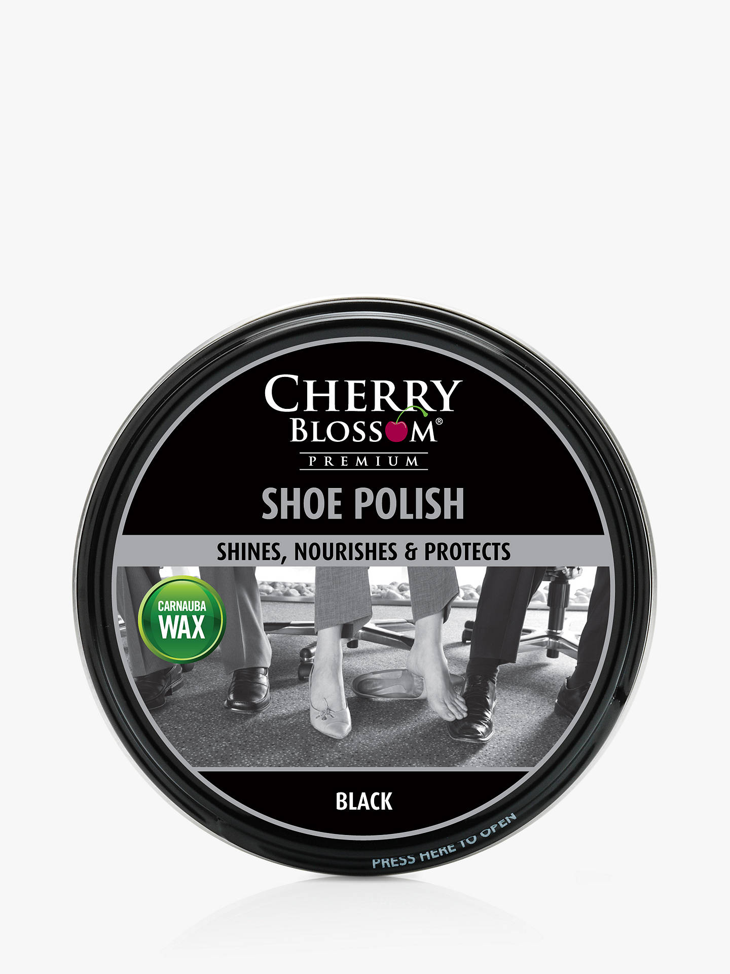 BuyCherry Blossom Shoe Polish, 50ml, Black Online at johnlewis.com